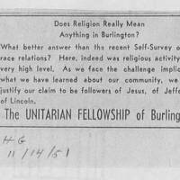 "1951-11-14 Burlington Hawkeye Gazette: ""Does Religion Really Mean Anything in Burlington?"""