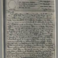 1943-05-10 Laura Davis to Lloyd Davis Page 1