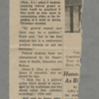 "1970-05-13 Des Moines Register Article: ""Back Study of Kent Deaths"" Front"