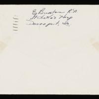 1946-01-14 Evelyn Burton to Carroll Steinbeck - Envelope back