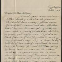 1918-02-06 Thomas Messenger to Mr. & Mrs. N.H. Messenger Page 1