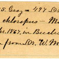 Clinton Mellen Jones, egg card # 791