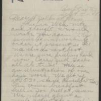1918-09-04 Thomas Messenger Mrs. N.H. Messenger Page 1