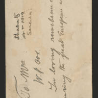 Michael Nikolitch letters, October 1919-October 1921