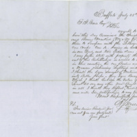 Buffalo Car Co., N.Y. correspondence and invoices regarding sale of railroad cars and wheels, 1856-1857