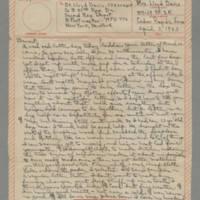 1943-04-03 Laura Davis to Lloyd Davis Page 1
