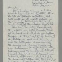 1943-10-24 Laura Davis to Lloyd Davis Page 1