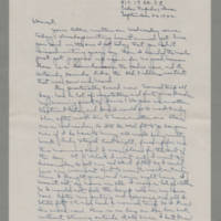 1942-09-26 Laura Davis to Lloyd Davis Page 1