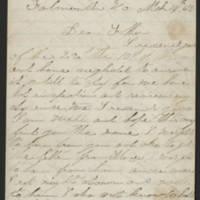 1863-03-14 Charles A. Gates to Mr. Arad Gates Page 1
