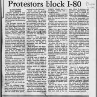 """1972-05-12 Daily Iowan Article: """"""""Protesters block I-80"""""""" Page 2"""