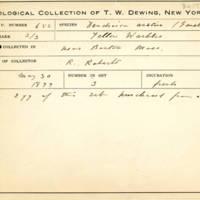 Thomas Wilmer Dewing, egg card # 778u