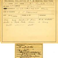 Thomas Wilmer Dewing, egg card # 134