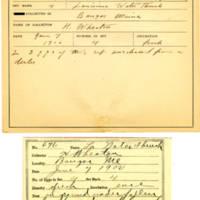 Thomas Wilmer Dewing, egg card # 541