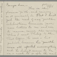 1918-07-05 Daphne Reynolds to Conger Reynolds Page 1
