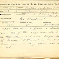 Thomas Wilmer Dewing, egg card # 148