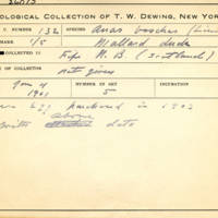 Thomas Wilmer Dewing, egg card # 092
