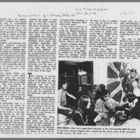 """1972-01-30 New York Times Magazine Article: """"""""Metamorphosis Of A Campus Radical"""""""" Page 10"""
