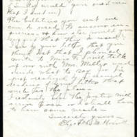 Elizabeth M. Howell to Mrs. Whitley Page 2