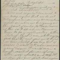 1917-10-05 Harvey Wertz to Miss Dorothy Wertz Page 1