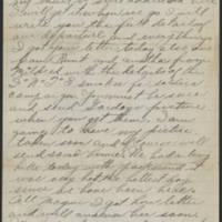 1917-10-05 Harvey Wertz to Miss Dorothy Wertz Page 2