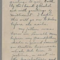 December 1944 Stephen Bush to Helen & Bess Peebles Fox Page 1