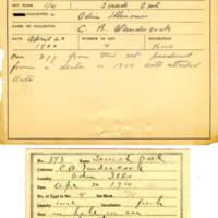 Thomas Wilmer Dewing, egg card # 250