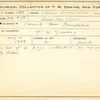 Thomas Wilmer Dewing, egg card # 667u