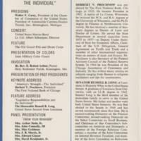 Speakers: Herbert V. Prochnow; Senator Russell B. Long