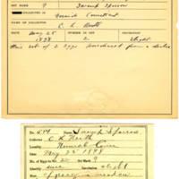 Thomas Wilmer Dewing, egg card # 467
