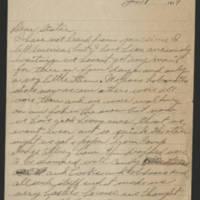 1918-01-01 Harvey Wertz to Eloise Wertz Page 1