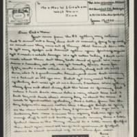 1944-06-19 M/Sgt. John W. Graham to Mr. & Mrs. W.J. Graham Page 1