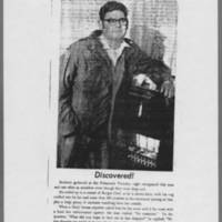 "1971-05-08 Daily Iowan Photo: """"Discovered!"""""