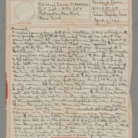 1943-04-02 Laura Davis to Lloyd Davis Page 1
