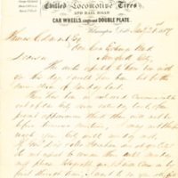 Bush & Lobdell correspondence to Thomas C. Durant, Wilmington, Del., 1857-1858