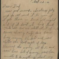 1918-10-23 Harvey Wertz to Mr. L.A. Wertz Page 1