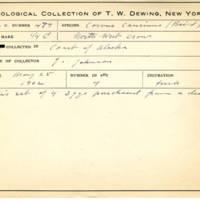 Thomas Wilmer Dewing, egg card # 395