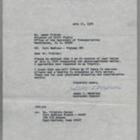 1974-07-11 Ms. Virginia Harper to Mr. James Frazier