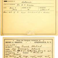 Thomas Wilmer Dewing, egg card # 415