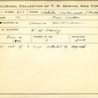 Thomas Wilmer Dewing, egg card # 497