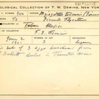 Thomas Wilmer Dewing, egg card # 344