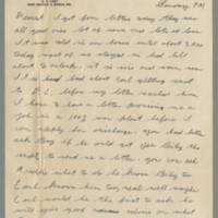 1942-12-20 Lloyd Davis to Laura Davis Page 1
