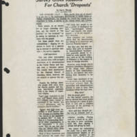 1971-12-28 'Survey Gives Reasons For Church 'Dropouts''