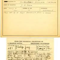 Thomas Wilmer Dewing, egg card # 386