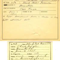 Thomas Wilmer Dewing, egg card # 200