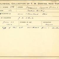Thomas Wilmer Dewing, egg card # 708u