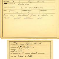 Thomas Wilmer Dewing, egg card # 237