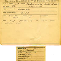 Thomas Wilmer Dewing, egg card # 073