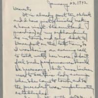 1942-01-22 Laura Davis to Lloyd Davis Page 1
