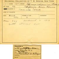 Thomas Wilmer Dewing, egg card # 086