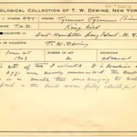 Thomas Wilmer Dewing, egg card # 335